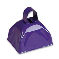 3-inch Purple Metal Cow Bell (1 Bell)