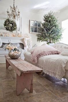 Pale pink and cream would also be pretty for a bedroom