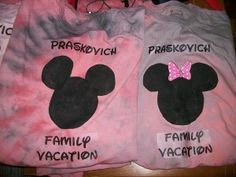How to make your own custom shirts for Disney.