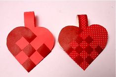 Another tutorial for Danish woven heart baskets. Would be cute made with felt also.