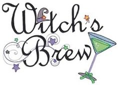 Witches Brew - 2 Sizes! | Halloween | Machine Embroidery Designs | SWAKembroidery.com Bunnycup Embroidery