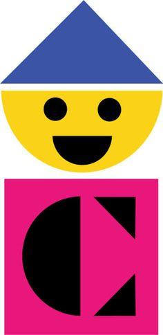 Colorforms logo, Paul Rand, 1959