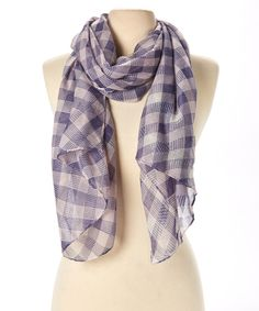 Take+a+look+at+the+Blue+&+White+Checkerboard+Scarf+on+#zulily+today!