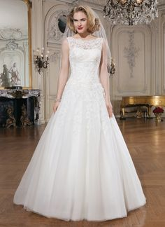 02cfcec5675c Justin Alexander wedding dresses style 8726 Beaded embroidered and corded  lace tulle ball gown features a Sabrina illusion neckline.