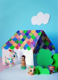 Tutorial: Make an easy origami doll house - We Are Scout Easy Arts And Crafts, Paper Crafts For Kids, Craft Activities For Kids, Diy For Kids, Gifts For Kids, Origami Rose, Diy Origami Doll, Useful Origami, Easy Origami