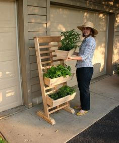 Three-Tier Vertical Growing System » Great for my small garden!
