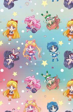 Chibi Senshi Pattern by riccardobacci.deviantart.com on @DeviantArt