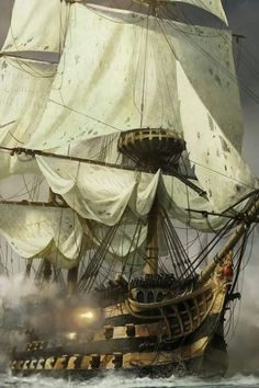 ۞The Gentleman - Piratenschiffe - yacht Bateau Pirate, Old Sailing Ships, Ocean Sailing, Hms Victory, Ship Of The Line, Ship Paintings, Age Of Empires, Wooden Ship, Nautical Art
