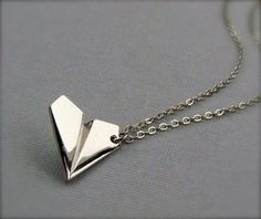 One Direction Paper  Airplane Necklace by StylesBiju on Etsy, $16.90