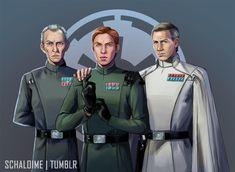 governor Tarkin, general Hux and director Krennic | Tumblr