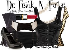 Inspired by Tim Curry as Dr. Frank-N-Furter in the 1975 film adaptation The Rocky Horror Picture Show.