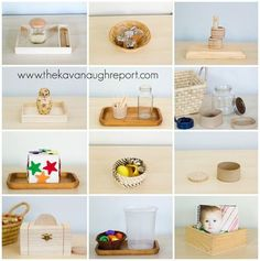 Montessori Work from 12 to 14 Months, easy ideas for young toddler work shelves. Related Post Favorite Montessori Practical Life Activities for .Montessori toddler resources listed by topic and age. These resources can help you incorporate Montessori idea Montessori Baby, Montessori 12 Months, Montessori Trays, Montessori Playroom, Montessori Homeschool, Montessori Materials, Montessori Activities, Infant Activities, Montessori Practical Life