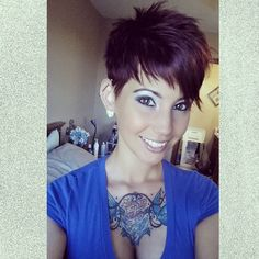 Pixie cut (love the color too!)