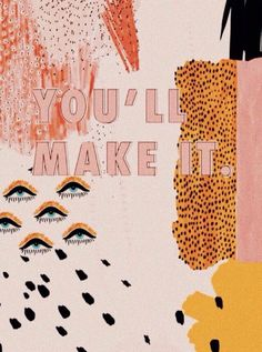 Textured brush strokes, eye illustrations, animal patterns combine to make an abstract collage with a motivational message. The Words, Cool Words, Wallpaper Animes, Iphone Wallpaper, Photo Wall Collage, Collage Art, Collage Walls, City Collage, Quote Collage