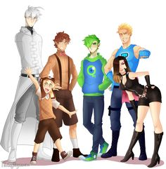 The Logo Family - Family Pic Full body by FloatingMegane-san. Cry, Ken, Mark, Jack, Pewds and Marzia
