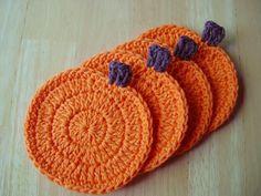 Pumpkin Coasters Crochet pattern by Unravel Me Designs