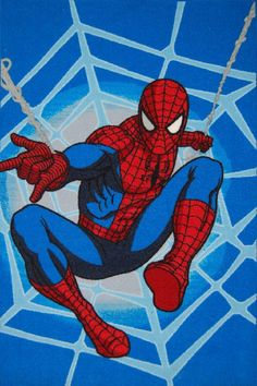 Kids Rug(Spiderman Blue) 1