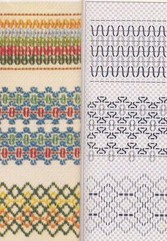 Cross Stitch Embroidery, Hand Embroidery, Huck Towels, Swedish Weaving Patterns, Swedish Embroidery, Monks Cloth, Bargello, Needlework, Bullet Journal
