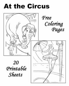 circus coloring pages repinned by totetudecom