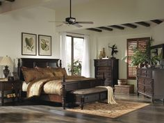 Key Town Bombe bed by Ashley furniture: the posts are adjustable ...