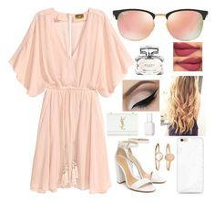"""Untitled #822"" by aneesakhan02 ❤ liked on Polyvore featuring Schutz, Accessorize, Ray-Ban, Gucci, Yves Saint Laurent and Essie"
