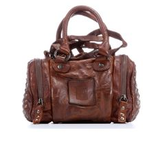 Maple and West Frye Brooke Small Satchel - Brown with studs