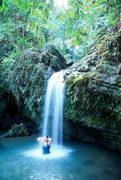 Las Delicias cascade in Jayuya Puerto Rico.... I miss my beautiful island and pueblito