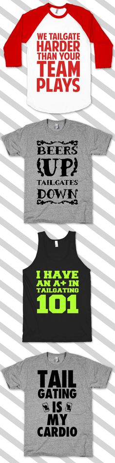 Get your pre game party on with these awesome tailgating designs.