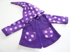Jacken - Zipfeljacke ,Wunschgröße und Farbe - ein Designerstück von Irianna bei DaWanda