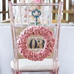 Large Ruffled Burlap Wreath in Vintage Pink - Bridal Everything