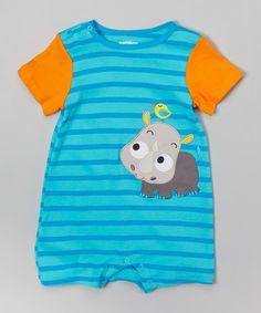 Love this Blue Stripe Rhinoceros Romper - Infant by Nûby on #zulily! #zulilyfinds