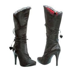 Adult Satin High Heel Boots