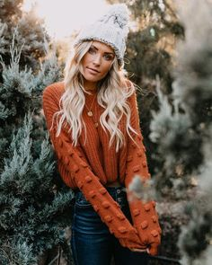 Full Of Cheer Knit Sweater - Rust