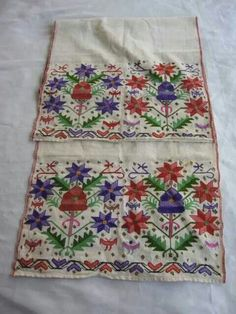 embroidered woman's waistband. Western Turkey.  Early 20th century.