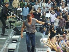 Bruce on stage
