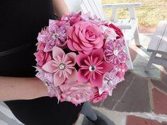 mixed paper bouquet