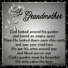 Missing You Poems In Death | teacher quotes thank you. thank you so much Grandma.