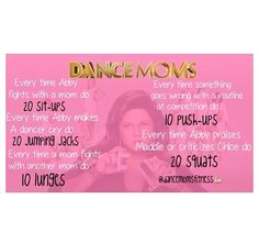 Dance Moms workout! The best you can get!