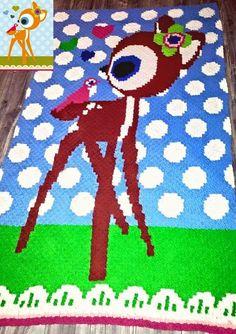 super gave deken gehaakt met een afbeelding van Jojojanneke. gemaakt door http://mamamizzy.weebly.com/