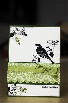 What a great use of different parts of the stamp! This would make a great engagement or special b'day card.