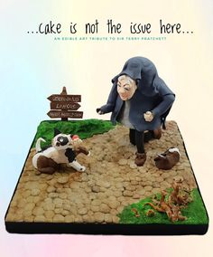 Cake is not the issue here. This collaboration is brought to you by The Cake Collective, a group of like minded cake, cookie, and sugar. Terry Pratchett, 70th Birthday, Sugar Art, Edible Art, Collaboration, Scrap, Cake, Collection, Pie