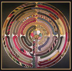 Vintage silk ties build a beautiful labyrinth
