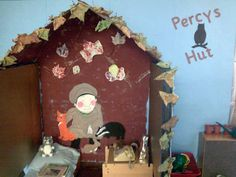 A super Percy's Hut classroom role-play area photo contribution. Great ideas for your classroom! Year 1 Classroom, Early Years Classroom, Eyfs Classroom, Classroom Decor, Teaching Displays, Classroom Displays, Teaching Ideas, Eyfs Activities, Autumn Activities