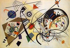 Wassily Kandinsky (Dec. 4, 1866 – 1944) - Russian artist associated with Blaue Raiter and Bauhaus…