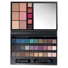 "For The Love of Makeup Artist Palette $19.99. FEATURES • 30 Eyeshadows • 5 Lip Glosses • 3 Blushes • 2 Highlighters• 1 Contour • 1 Dual-Ended Eye Applicator • 1 Lip Applicator • 1 Cheek Applicator • Palette measures 4 3/4"" L x 7 1/2"" W x 3/4"" HMade in China"