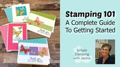 I am so excited to bring you this Stamping & Card Making The best complete guide. Let's cover the basics & show you 6 simple cards to make. Card Making Ideas For Beginners, Card Making Tips, Card Making Tutorials, Making Tools, Easy Youtube, Fancy Fold Cards, Embossed Cards, Butterfly Cards, Card Sketches