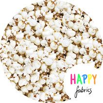 Designed and produced by Happy Fabrics. Approximately 160 cm wide. Snack Recipes, Snacks, Popcorn, Happy, Fabrics, Bomull, Food, Snack Mix Recipes, Tejidos