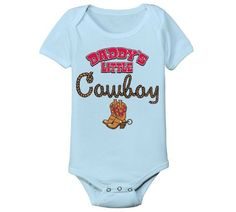 Daddy's Little Cowboy Funny Western Horses Cool Baby One Piece, http://www.amazon.com/dp/B00CMRT4ZG/ref=cm_sw_r_pi_awd_uCeusb1YYCP5C