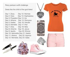 """""""Percy Jackson Outfit Challenge - Day 10 - Child of Aphrodite"""" by insane-alice-madness ❤ liked on Polyvore featuring H&M, New Look, Converse, Miss Selfridge and Aéropostale"""