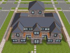 House 75 remodelled player designed house - full view #sims #simsfreeplay #simshousedesign